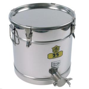 Behållare rostfri 25kg