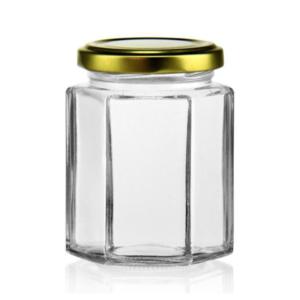 Glasburk sexkantig 195ml 24st/bricka